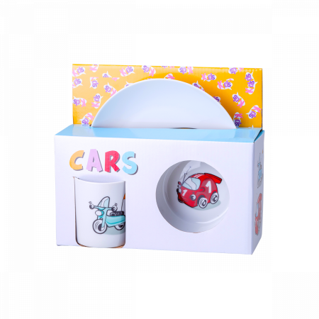 Cars Kinderporzellanset 3 Stk. - Kids world